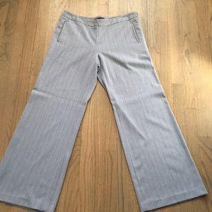 Textured Grey Wide-leg Trouser